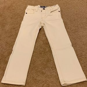 Old Navy cream/ off white jeans - 4T
